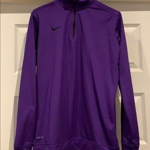 Purple Nike dri-fit running long sleeve top
